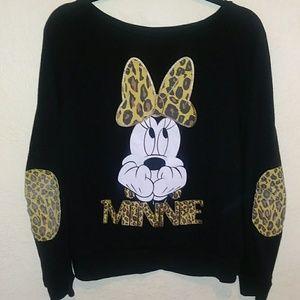 Disney Minnie Sweatshirt w Elbow Patches